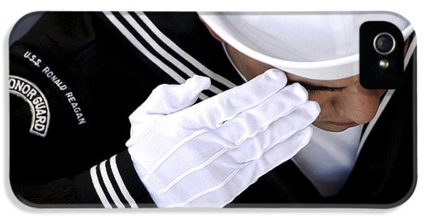 An Honor Guard Member Renders A Salute IPhone 5 Case by Stocktrek Images