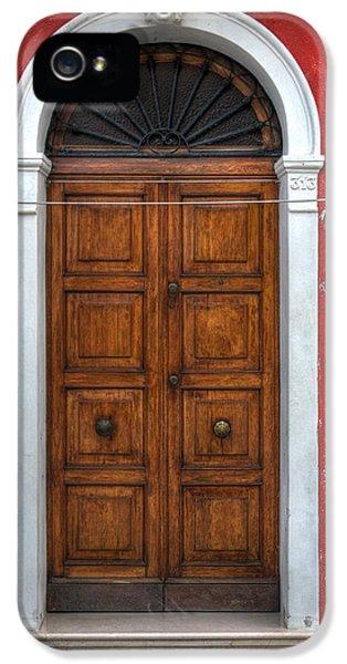 an old wooden door in Italy IPhone 5 Case
