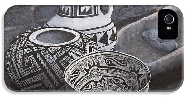 Anasazi Black On White IPhone 5 Case by Jerry McElroy