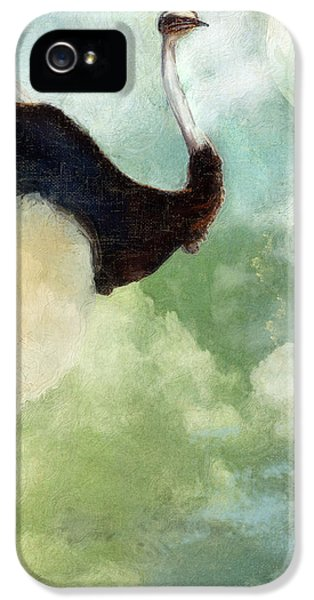 Ostrich iPhone 5 Case - Anastasia's Ostrich by Mindy Sommers