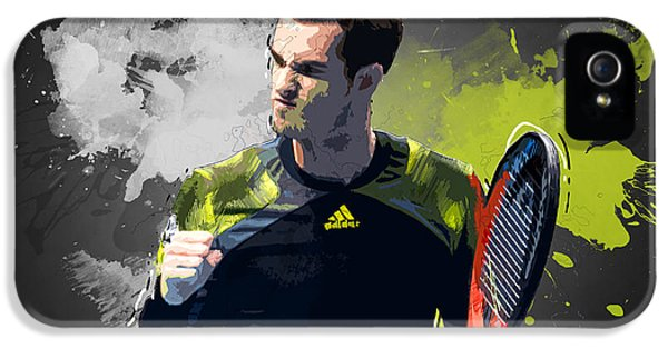 Andy Murray IPhone 5 / 5s Case by Semih Yurdabak