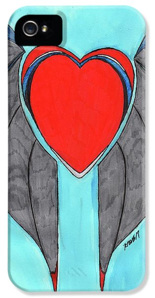 Angel Heart IPhone 5 Case by Ronald Woods