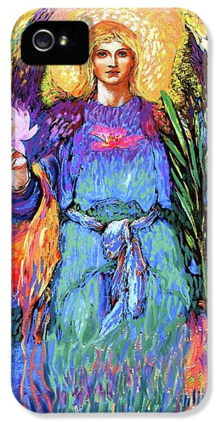 Lily iPhone 5 Case - Angel Love by Jane Small