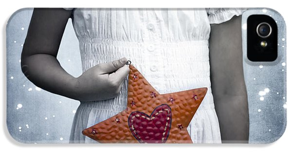 Angelic iPhone 5 Cases - Angel With A Star iPhone 5 Case by Joana Kruse