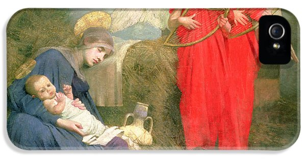 Angels Entertaining The Holy Child IPhone 5 Case by Marianne Stokes