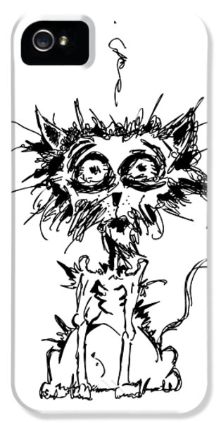 Angst Cat IPhone 5 / 5s Case by Nicholas Ely
