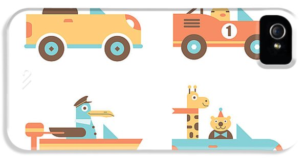 Truck iPhone 5 Case - Animal Cars by Mitch Frey
