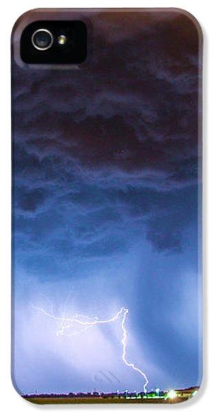 Nebraskasc iPhone 5 Case - Another Impressive Nebraska Night Thunderstorm 008/ by NebraskaSC