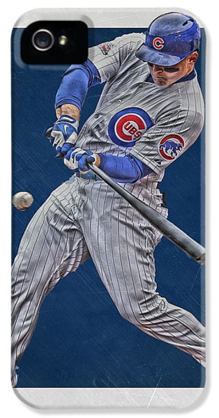 Anthony Rizzo Chicago Cubs Art 1 IPhone 5 / 5s Case by Joe Hamilton