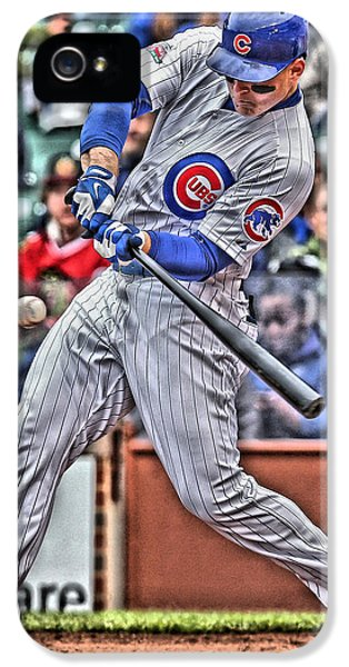 Anthony Rizzo Chicago Cubs IPhone 5 Case by Joe Hamilton
