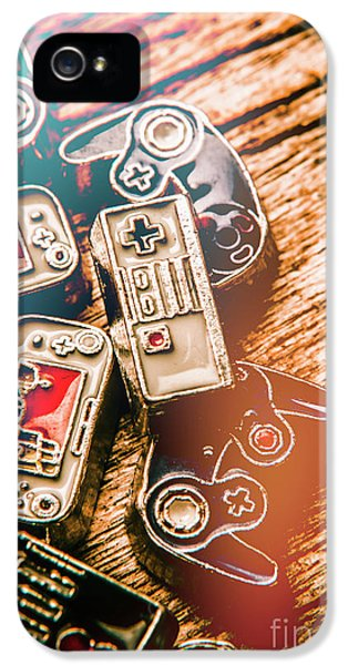 Antique Gaming Consoles IPhone 5 Case by Jorgo Photography - Wall Art Gallery
