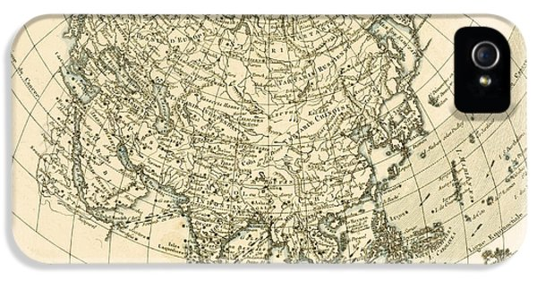 Antique Map Of Asia IPhone 5 Case by Guillaume Raynal