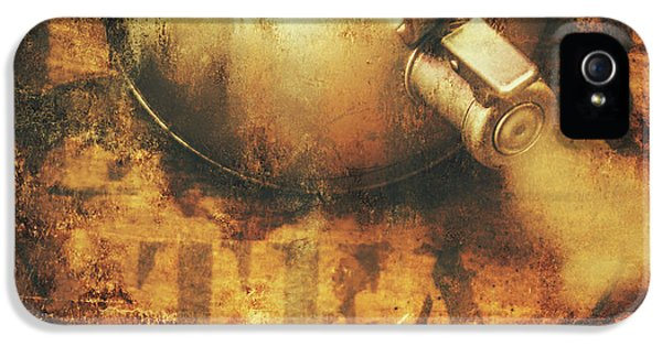 Antique Old Tea Metal Sign. Rusted Drinks Artwork IPhone 5 Case