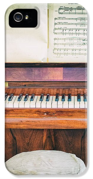 IPhone 5 Case featuring the photograph Antique Piano And Music Sheet by Silvia Ganora