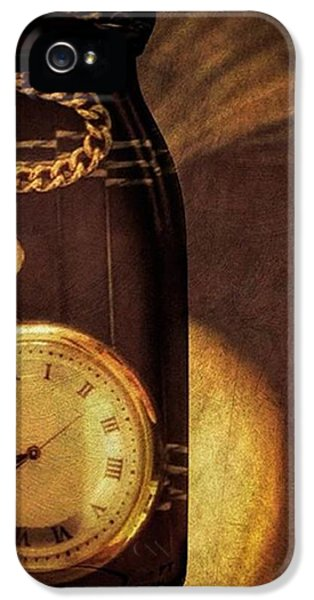Antique Pocket Watch In A Bottle IPhone 5 Case by Susan Candelario
