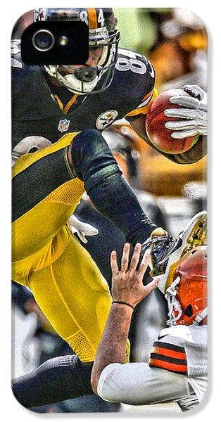 Antonio Brown Steelers Art 5 IPhone 5 Case by Joe Hamilton