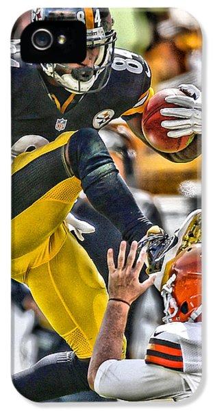 Day iPhone 5 Case - Antonio Brown Steelers Art 5 by Joe Hamilton
