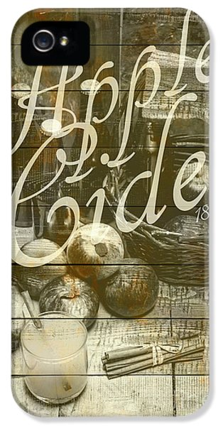 Apple Cider Sign Printed On Rustic Wood Planks IPhone 5 Case by Jorgo Photography - Wall Art Gallery