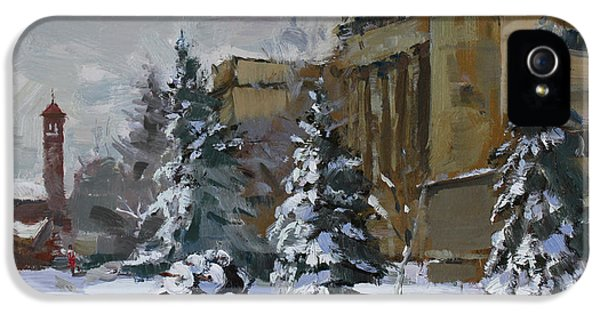 April Snow By The Nacc IPhone 5 Case by Ylli Haruni