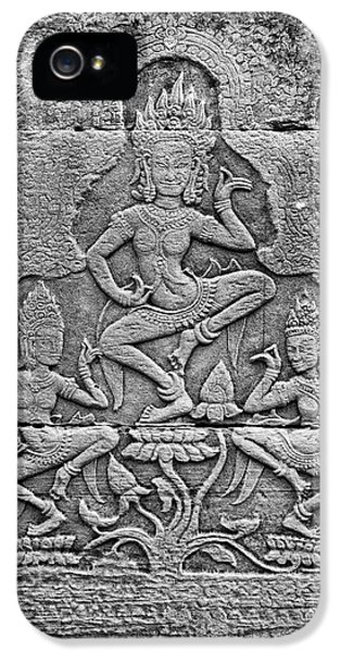 IPhone 5 Case featuring the photograph Apsaras 3, Angkor, 2014 by Hitendra SINKAR