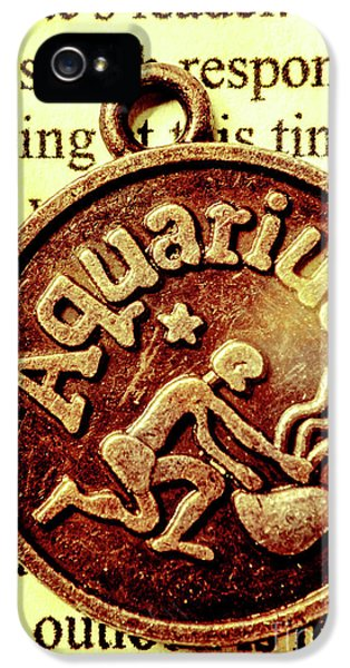 IPhone 5 Case featuring the photograph Aquarius Zodiac Sign by Jorgo Photography - Wall Art Gallery