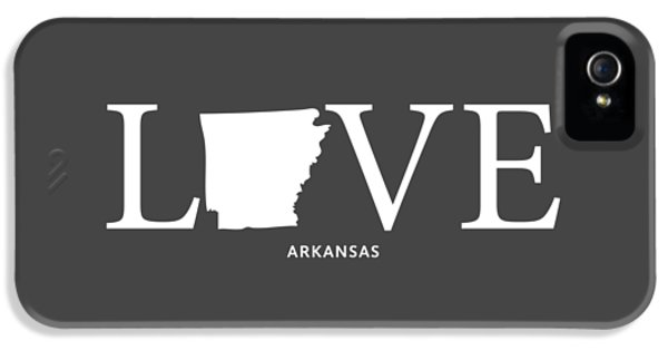 University Of Arkansas iPhone 5 Case - Ar Love by Nancy Ingersoll