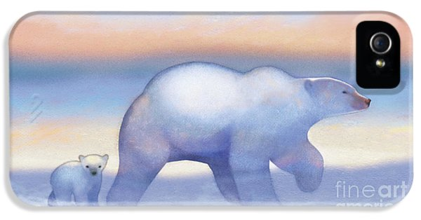 Arctic Bears, Journeys Bright IPhone 5 Case by Tracy Herrmann
