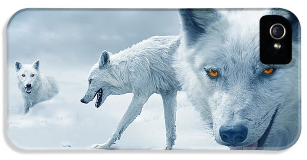Arctic Wolves IPhone 5 / 5s Case by Mal Bray