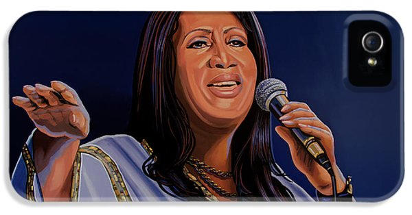Aretha Franklin Painting IPhone 5 Case