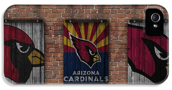 Arizona Cardinals Brick Wall IPhone 5 / 5s Case by Joe Hamilton