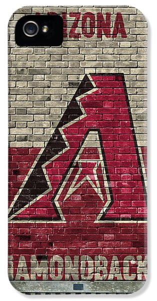 Arizona Diamondbacks Brick Wall IPhone 5 Case by Joe Hamilton