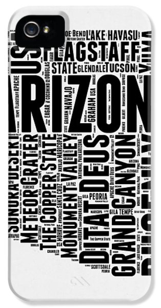 Arizona Word Cloud Map 2 IPhone 5 / 5s Case by Naxart Studio