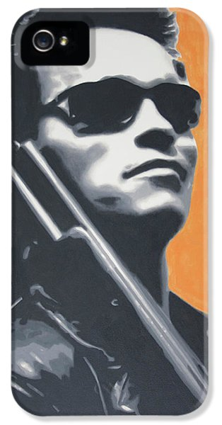 Arnold Schwarzenegger 2013 IPhone 5 Case by Luis Ludzska