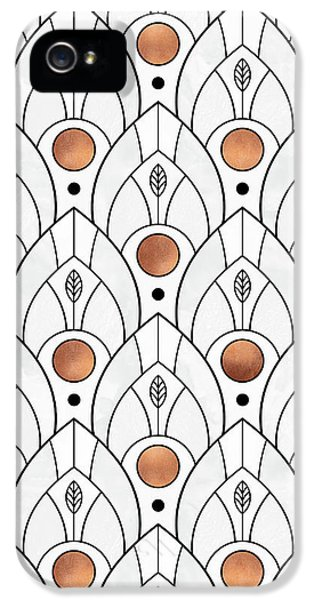 Art Deco Leaves 1 IPhone 5 / 5s Case by Elisabeth Fredriksson