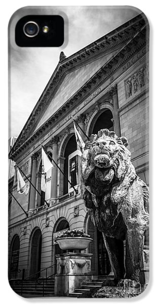 Art Institute Of Chicago Lion Statue In Black And White IPhone 5 Case