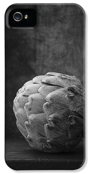 Artichoke Black And White Still Life IPhone 5 Case by Edward Fielding