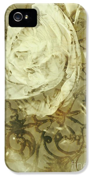 Artistic Vintage Floral Art With Double Overlay IPhone 5 Case by Jorgo Photography - Wall Art Gallery