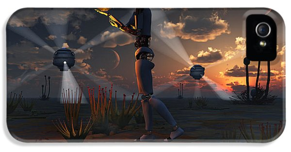 Cyborg iPhone 5 Cases - Artists Concept Of A Quest To Find New iPhone 5 Case by Mark Stevenson