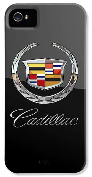 Cadillac - 3d Badge On Black IPhone 5 Case