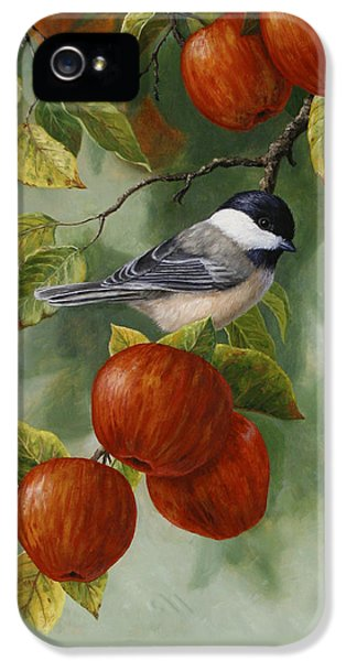 Apple Chickadee Greeting Card 2 IPhone 5 Case