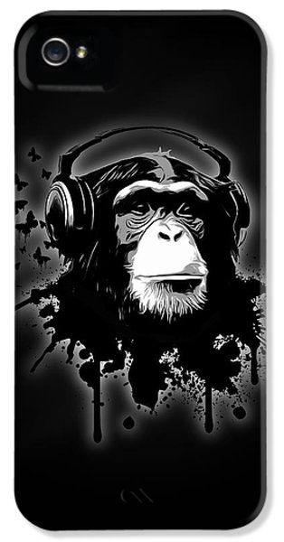 Monkey Business - Black IPhone 5 / 5s Case by Nicklas Gustafsson