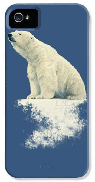 Bear iPhone 5 Case - Something In The Air by Lucie Bilodeau
