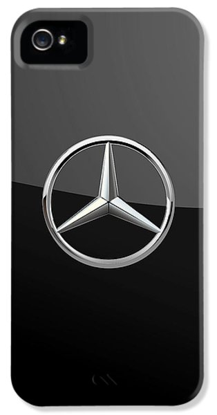Mercedes-benz - 3d Badge On Black IPhone 5 Case