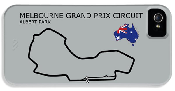 Albert Park Lake Circuit IPhone 5 Case by Mark Rogan
