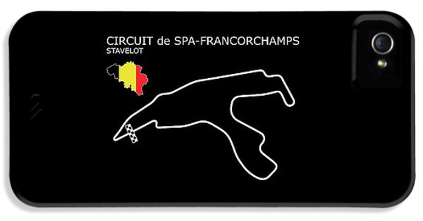 Spa Francorchamps IPhone 5 Case by Mark Rogan