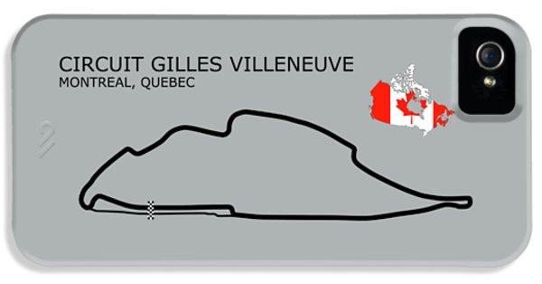 Circuit Gilles Villeneuve IPhone 5 Case by Mark Rogan