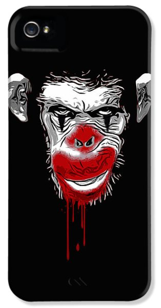 Ape iPhone 5 Case - Evil Monkey Clown by Nicklas Gustafsson
