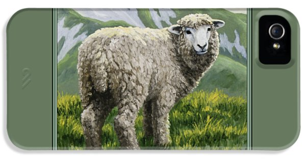 Highland Ewe IPhone 5 Case by Crista Forest