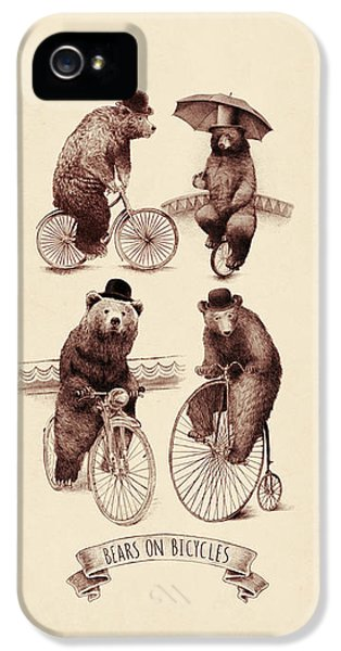 Bears On Bicycles IPhone 5 Case by Eric Fan