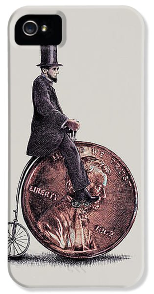 Bicycle iPhone 5 Case - Penny Farthing by Eric Fan